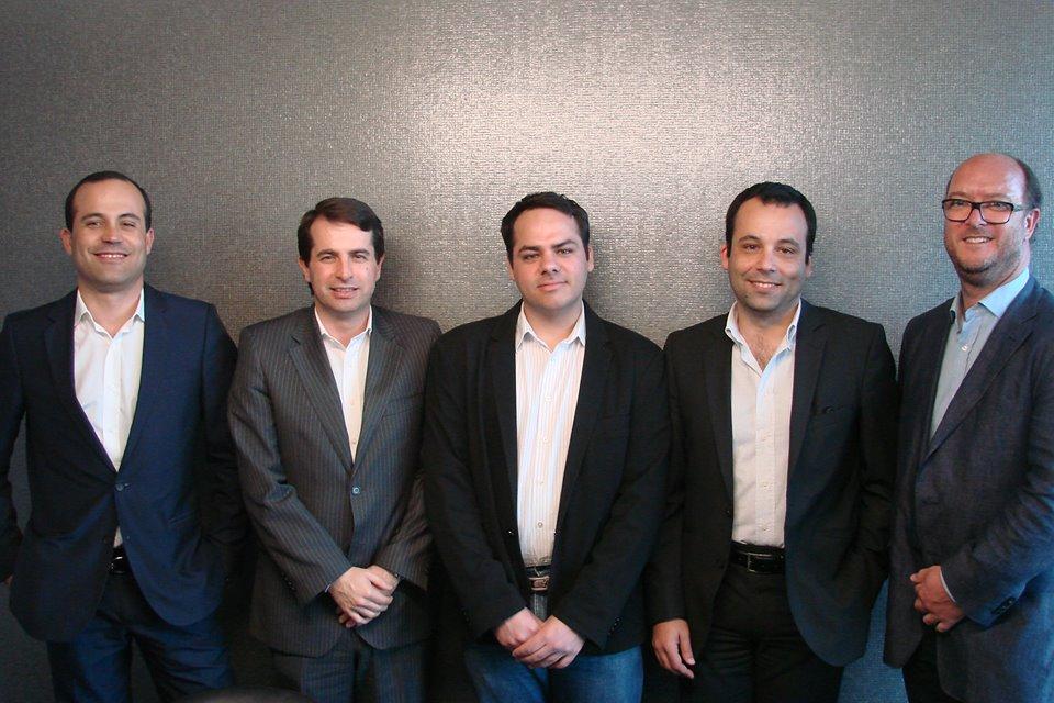 Pedro Santos (Onebiz), António Godinho (Onebiz), Roberto Fermino (Helpin), Rui Santos (IMO24h) and Paulo Trindade (IMO24h).