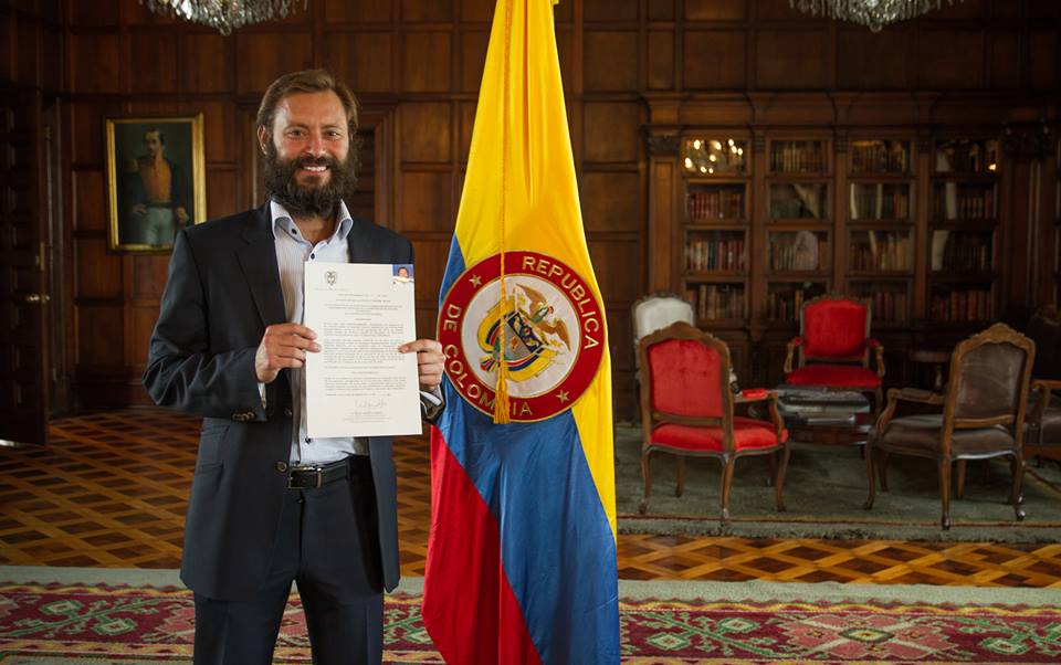 Paul Bragiel became a Colombian citizen by presidential decree this month.