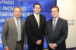 Jordi Botifoll, Rodrigo Dienstmann and Rob Lloyd at the inauguration of the Cisco Center of Innovation in Rio.