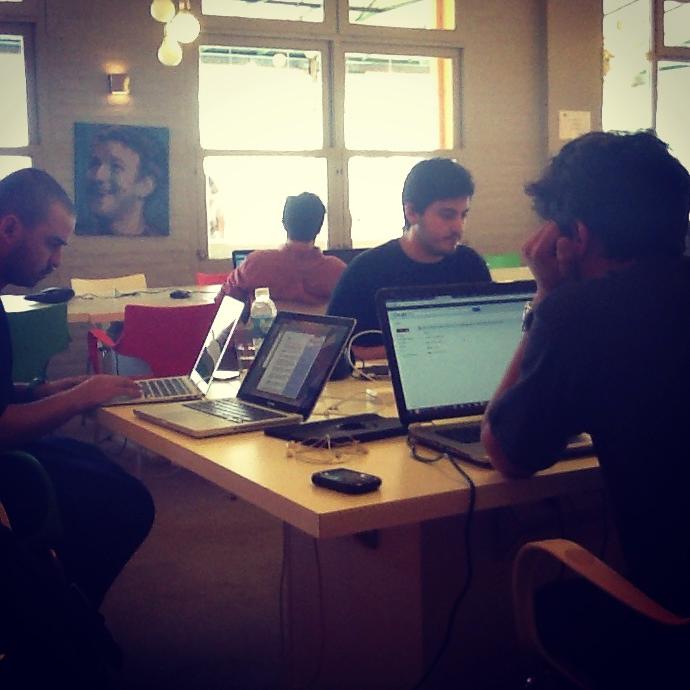 The Fligoo team at work.