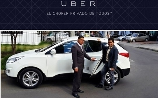 A shot from Uber's Bogotá announcement e-mail.