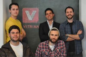 Antonio Sanseverino, Marcelo Reis, Saulo Marti, Ricardo Pedroni and Dalmo Picharki, the founders of Vitrina.