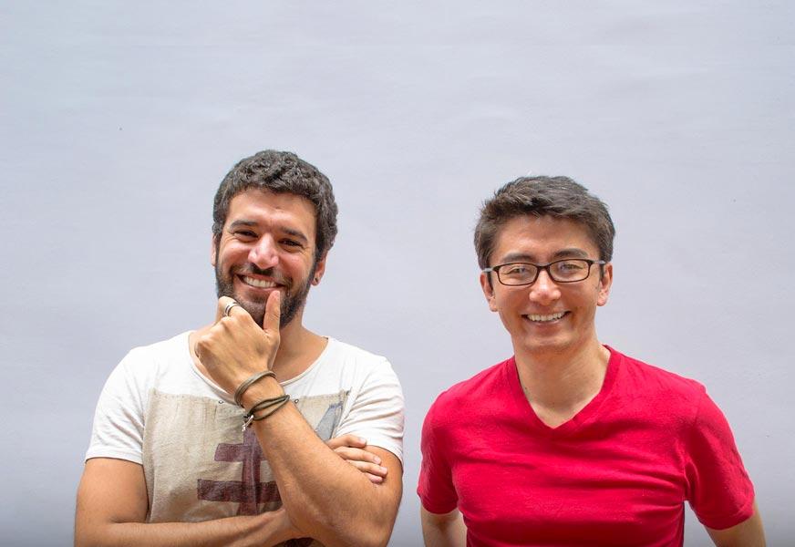 Mandaê co-founders Karim Hardane and Marcelo Fujimoto.