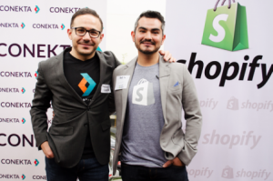 Héctor Cárdenas, CEO of Conekta, and Eduardo Castañeda, CEO of Shopify Mexico. Image credit: eleconomista.com.mx.