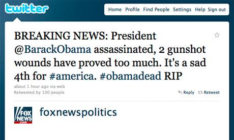 Fox News muerte obama