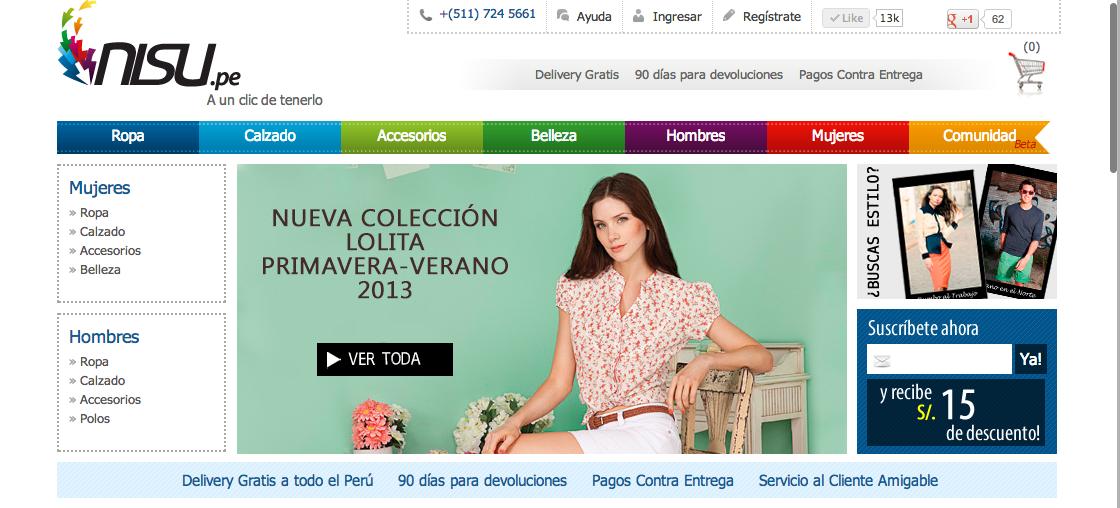 Sitio Web Nisu