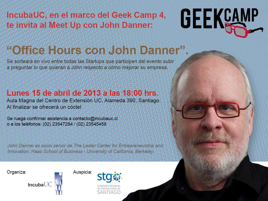 Geek Camp meetup con John Danner