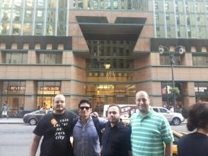Rodrigo Souza, Roger Lopez, Clebson Derivan y Roberto Santacroce