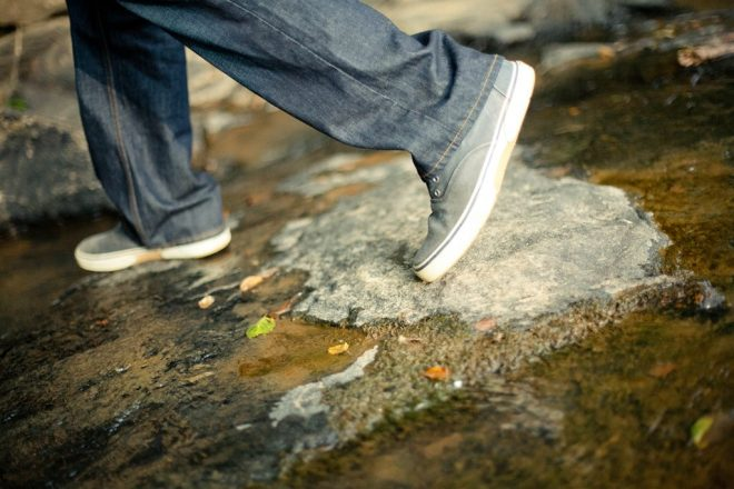 public-domain-images-free-stock-photos-shoes-feet-walking-rocks-creek-1